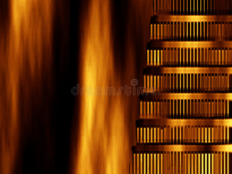 Abstract background- Nero burned Rome vector illustration
