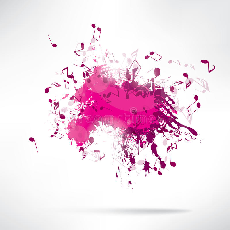 Abstract background notes and splatter stock illustration