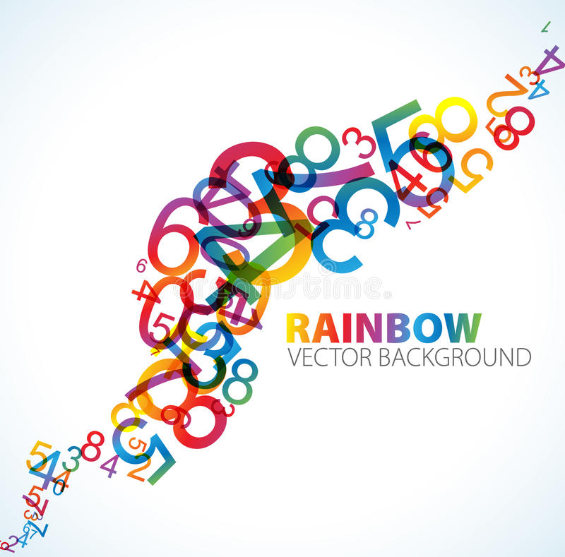 Download Abstract Background With Numbers Stock Illustration - Image: 14856962