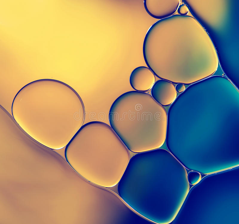 Abstract background. With oil drops on water royalty free stock images