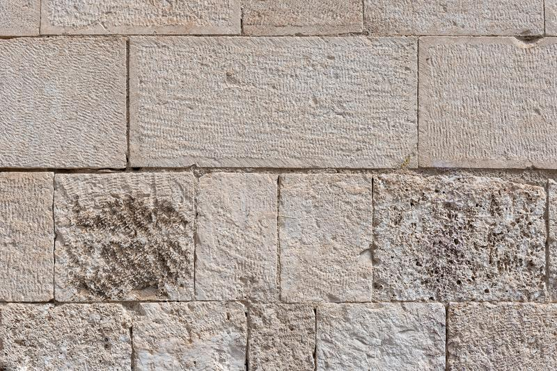 Abstract background with old grey brick wall. stock photography