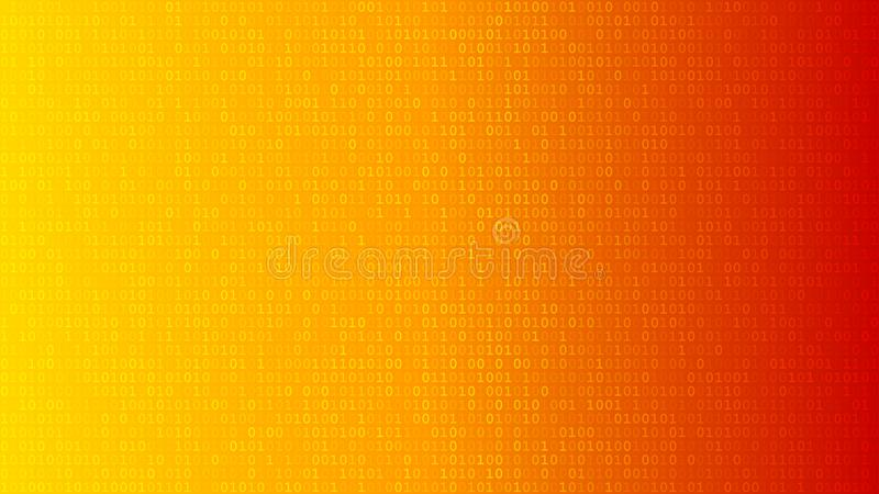 Abstract background of ones and zeros royalty free illustration