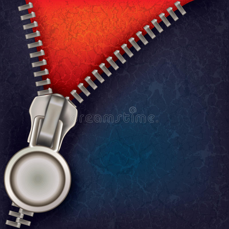 Abstract Background With Open Zipper Stock Photo