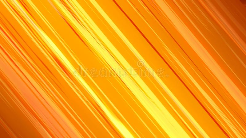 Abstract background with orange speed lines. 3d rendering royalty free illustration