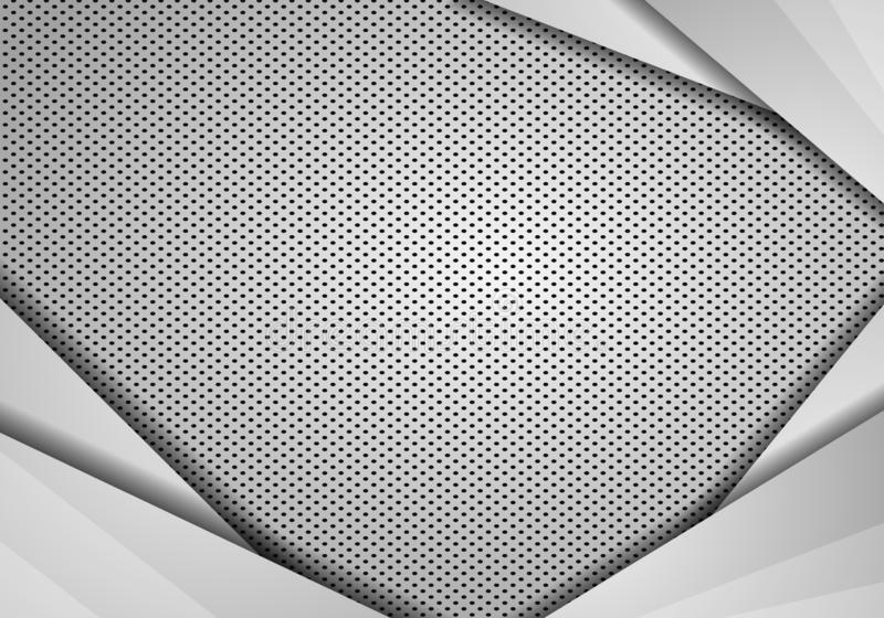 Abstract background overlap dimension grey vector. metal with mesh, modern tech design template background vector illustration