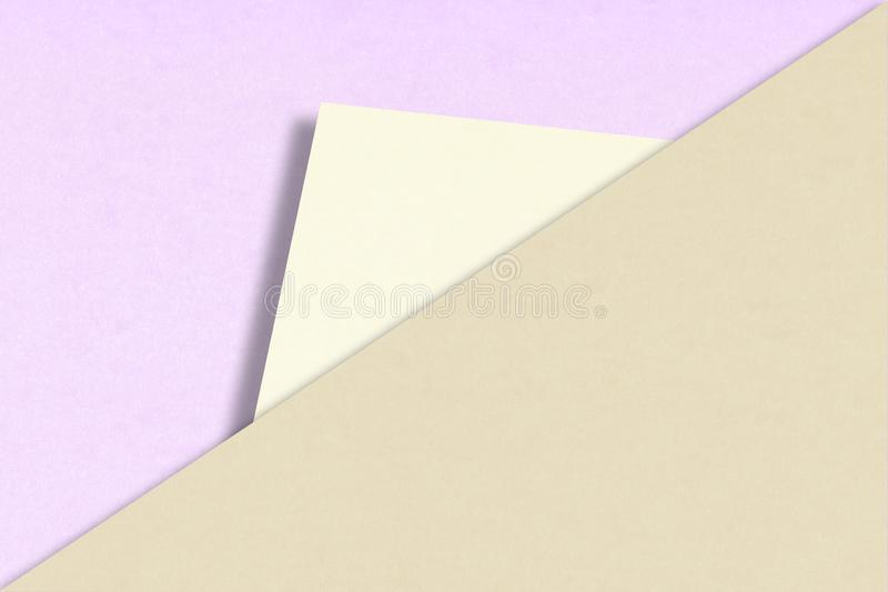 Abstract Background of Overlapping Paper in Trendy Pastel Colors stock photography