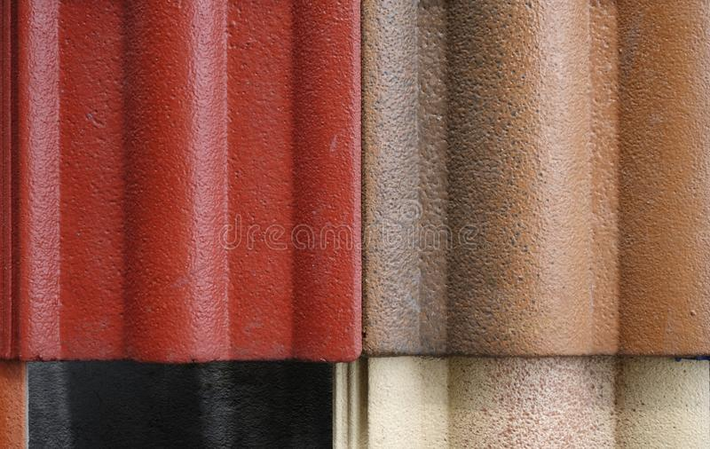 Abstract background of overlapping roof tiles stock photo