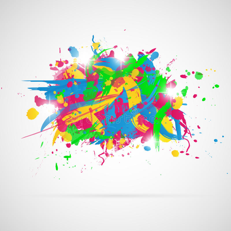 Abstract background with paint splashes. royalty free illustration
