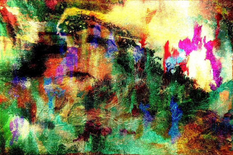 Abstract background painting royalty free illustration