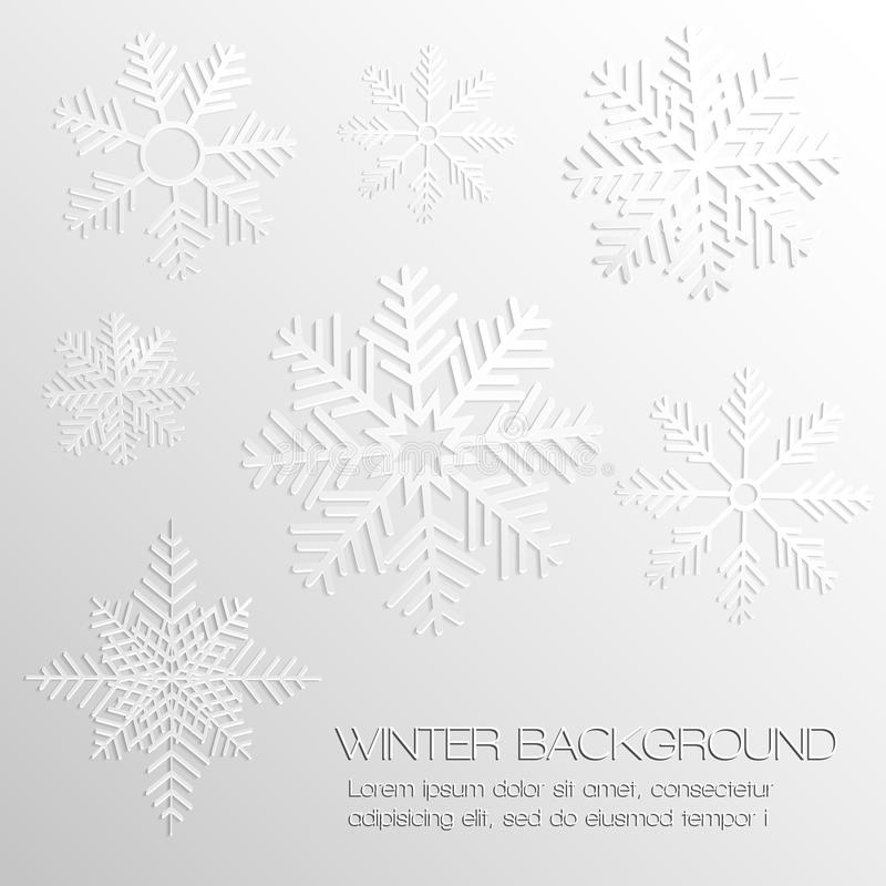 Download Abstract Background With Paper Snowflakes Stock Vector - Image: 33600909