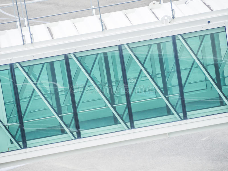 Abstract background of part of jetway royalty free stock photo