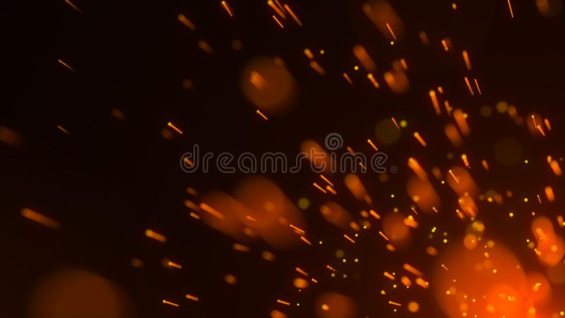 Abstract background of particles. Fire flying sparks. Burning red sparks. Fire. 4k background. Abstract background of particles. Fire flying sparks. Burning red vector illustration