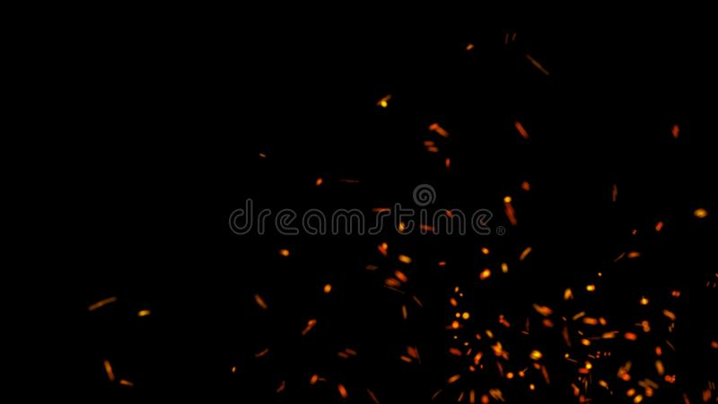 Abstract background of particles. Fire flying sparks. Burning red sparks. Fire. 4k background. Abstract background of particles fire flying sparks. Burning red vector illustration