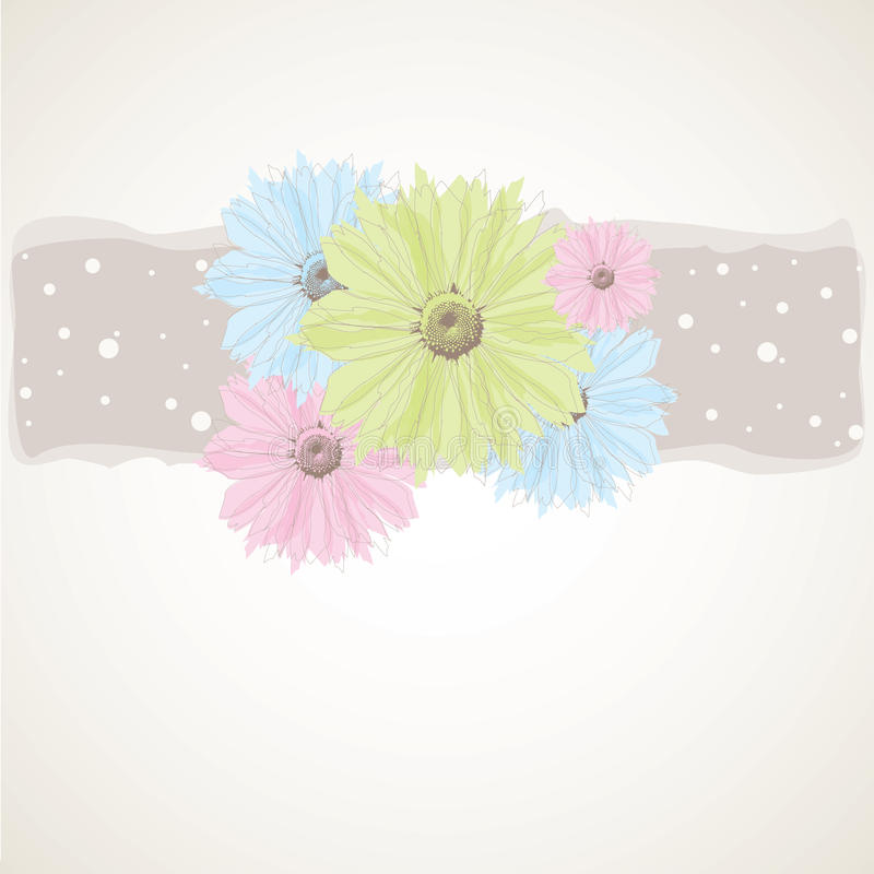 Abstract background with pastel flowers. royalty free stock photography