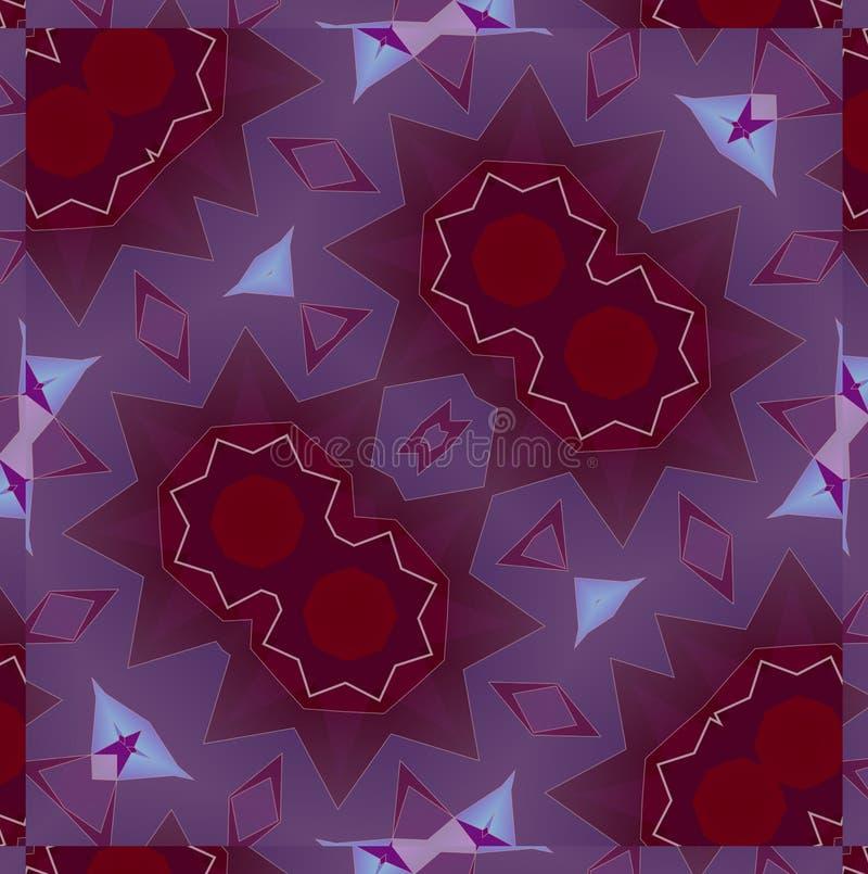 Abstract background pattern, kaleidoscope royalty free illustration