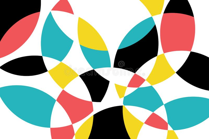 Abstract background pattern made with circular geometric shapes stock illustration