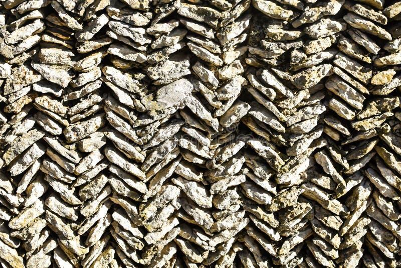 Diagonal Flat Stone Abstract Background, Zig-Zag Rows stock image