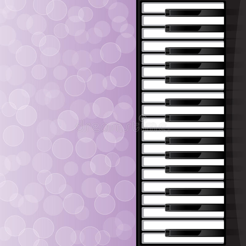 Abstract background with piano keys stock illustration