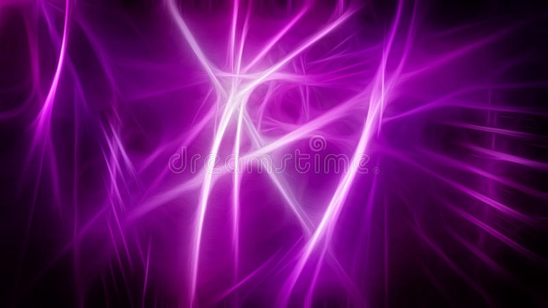 Abstract background with pink glowing stripes stock illustration