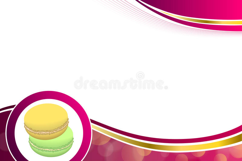 Abstract background pink macaroon yellow purple green circle frame illustration. Vector vector illustration