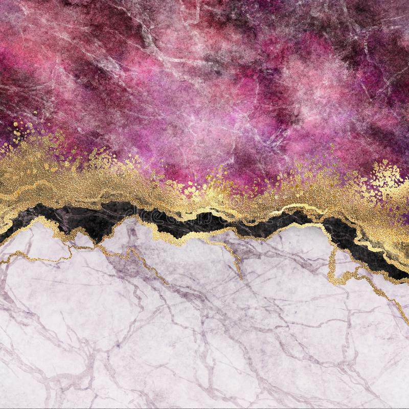 Free Abstract Background, Pink Marble With Veins Stone Texture, Gold Foil And Glitter, Painted Artificial Marbled Surface, Marbling Royalty Free Stock Photos - 149623978