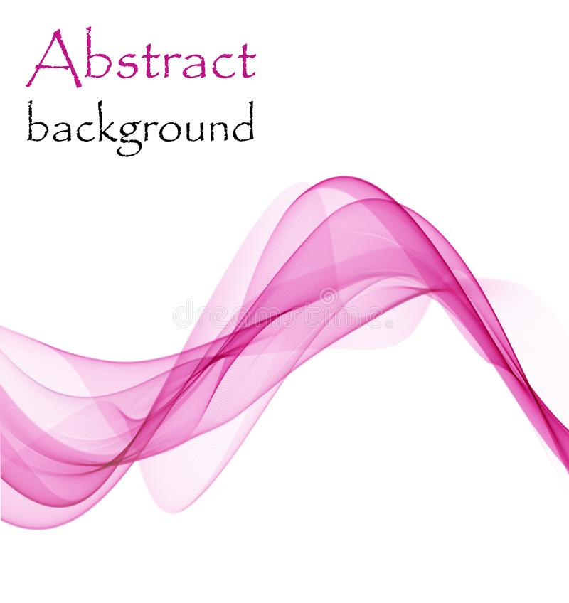 Abstract background with pink waves of transparent flying material stock photos