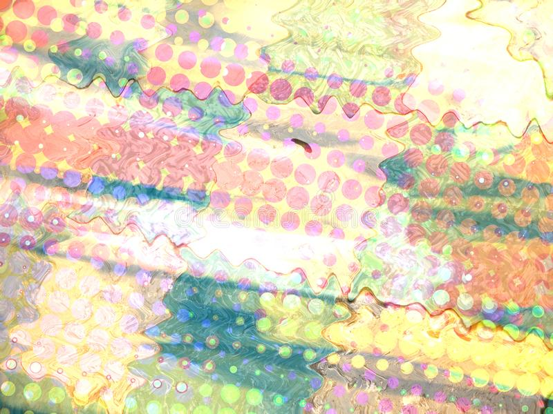 Abstract Background. Pink, white and other pastel colors stock illustration