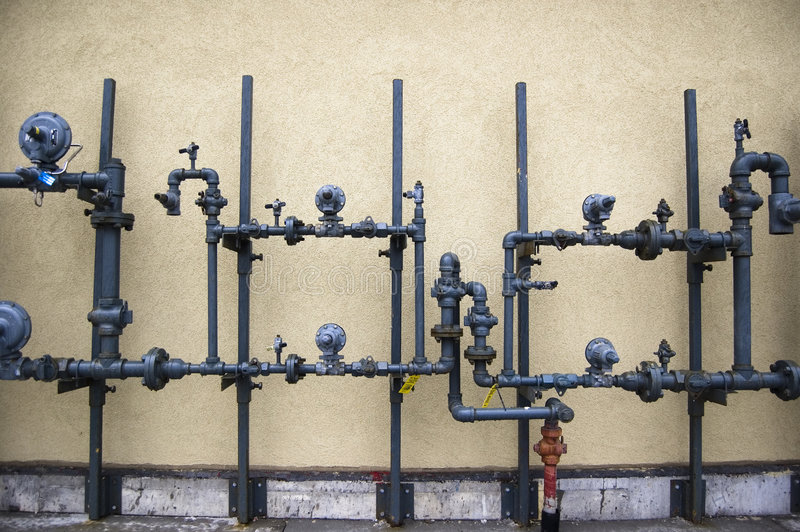 Abstract background of pipe system stock photo