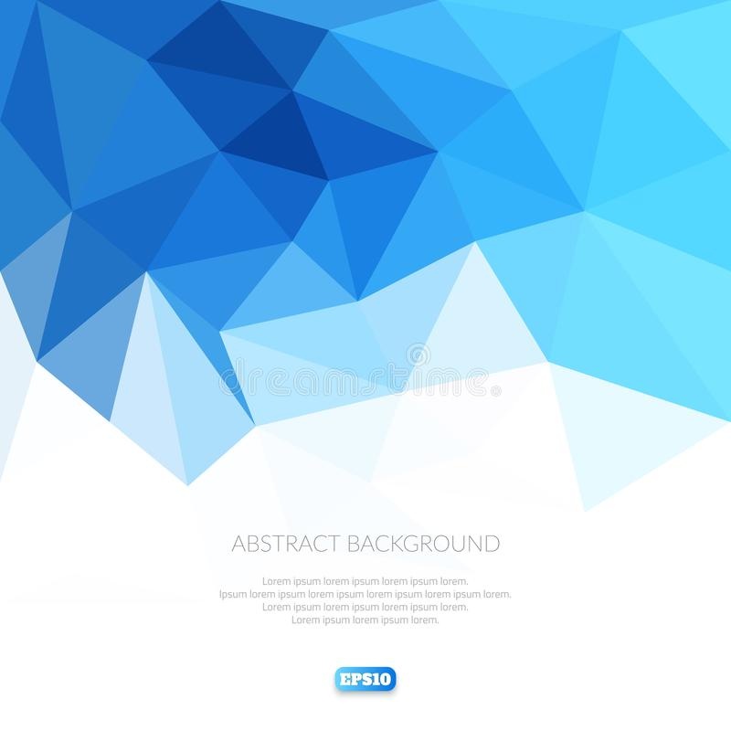 Abstract background in the polygonal style. Cool shades of blue. Movement forms stock illustration