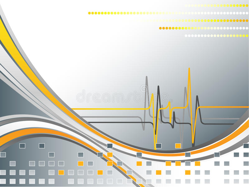 Abstract background with pulse stock illustration