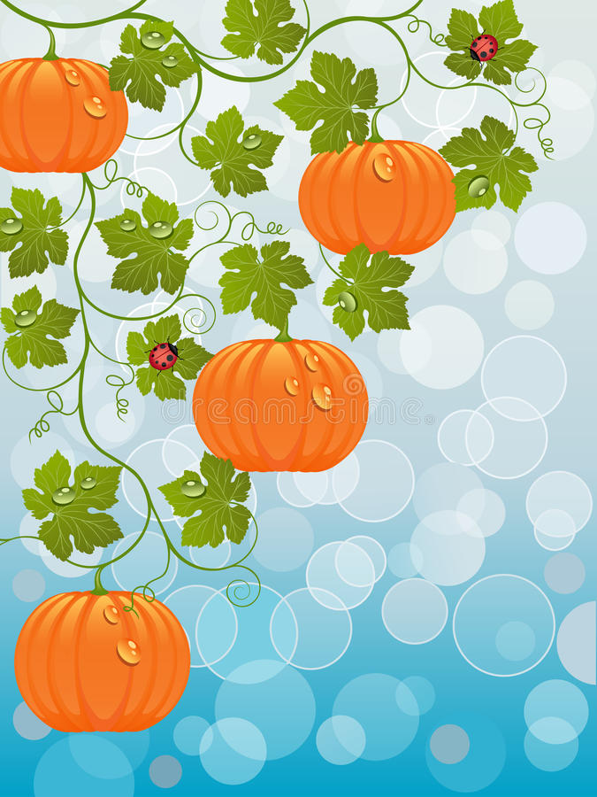 Abstract background with a pumpkin