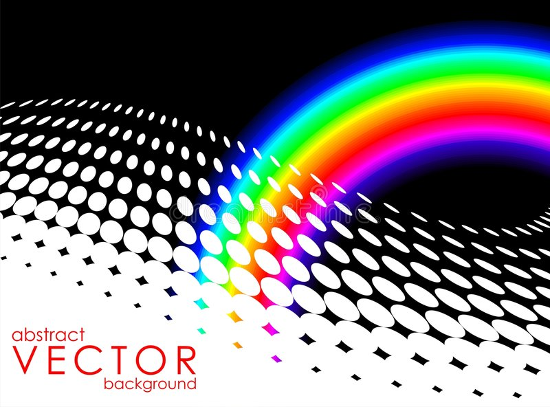 Abstract background with rainbow. Abstract vector background with rainbow and text space royalty free illustration