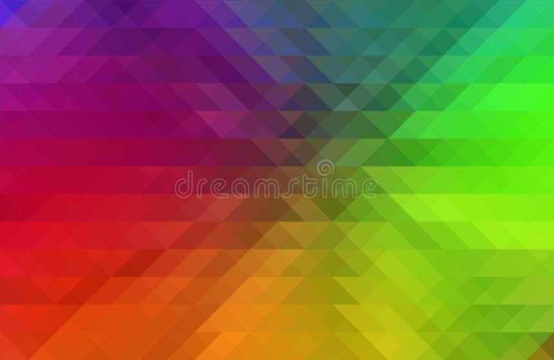 Abstract Background with Rainbow Colors and Mosaic Effect stock illustration