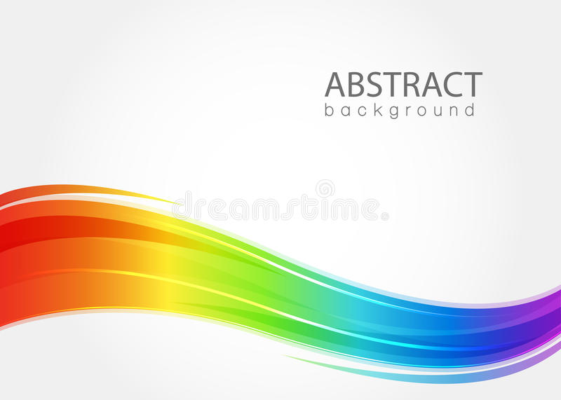 Abstract background with rainbow wave vector illustration
