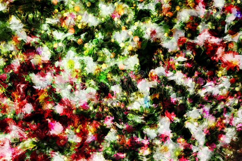 Random flowers background. Abstract background of random flowers with colorful petals stock photos