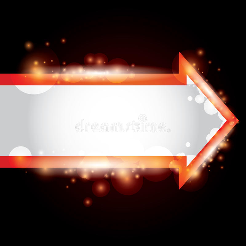 Abstract Background With A Red Arrow Stock Image