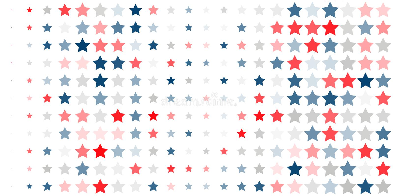 Abstract background of red, blue, white stars vector illustration
