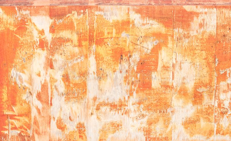 Abstract background in red orange stained colors stock photography