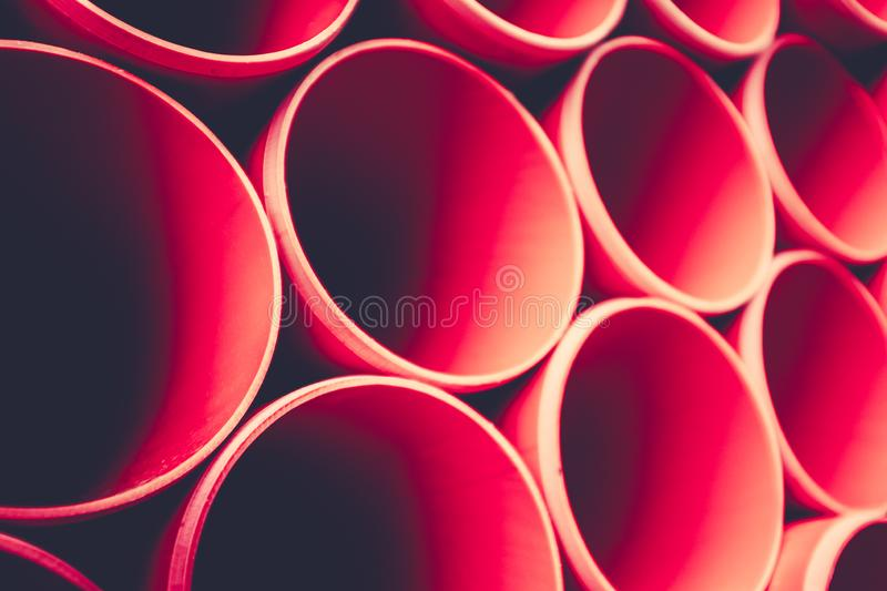 Abstract Background Of Red Pipes royalty free stock images