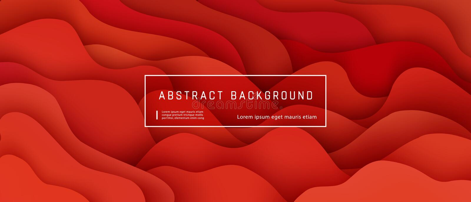 Abstract background with red wave and liquid shapes composition. Gradient fluid abstract background template, vector illustration. Design presentation, poster royalty free illustration