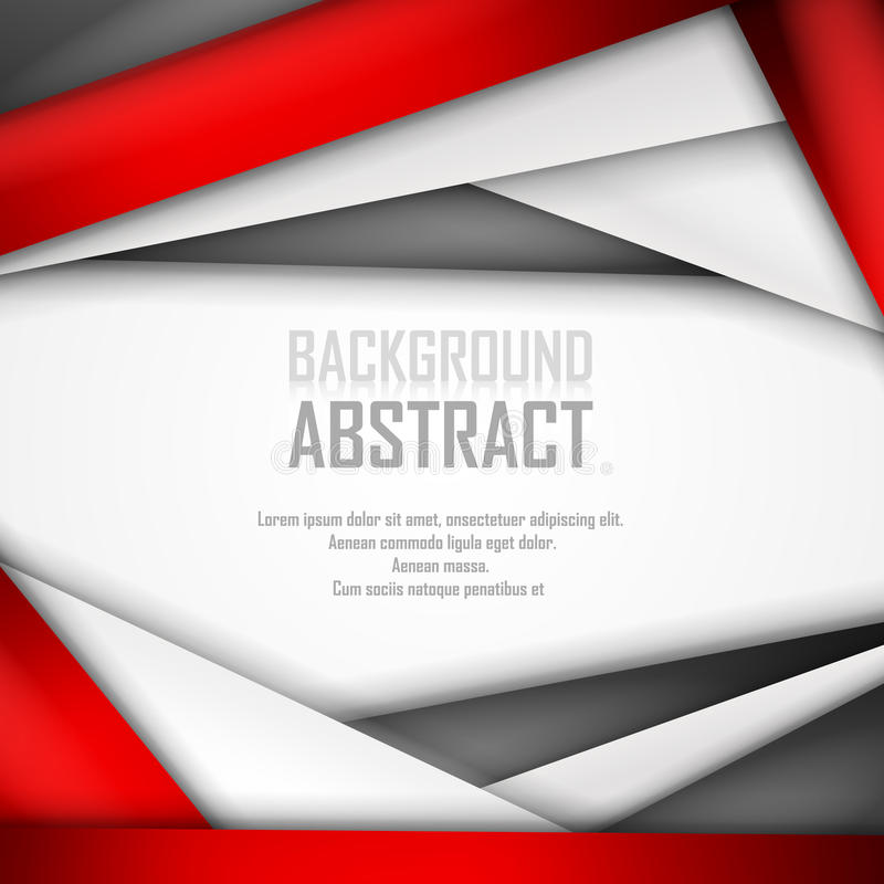 Abstract Background Of Red, White And Black Stock Vector