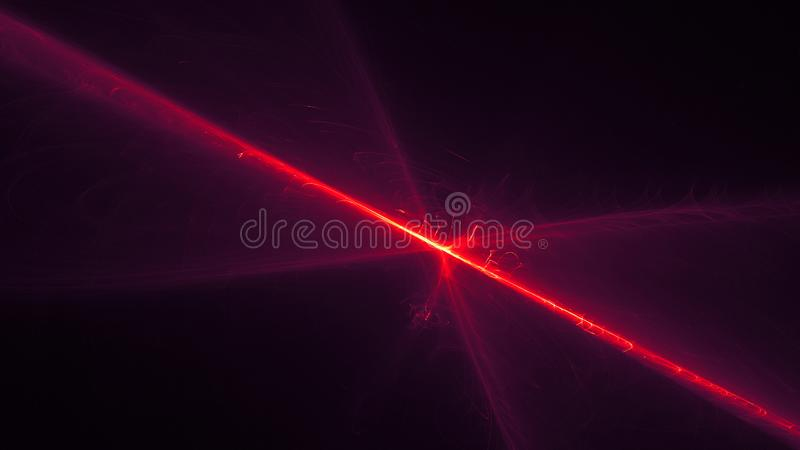 Abstract background, red and yellow light effects in a dark sky, 3d illustration. Abstract background, red and yellow light effects in a dark sky, space with vector illustration