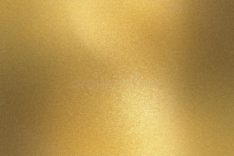 Abstract background, reflection gold foil texture royalty free stock image