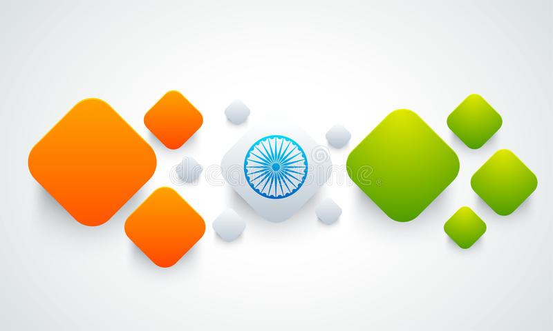 Abstract background for Republic Day celebration. Indian Flag Colors abstract background for Republic Day celebration royalty free illustration
