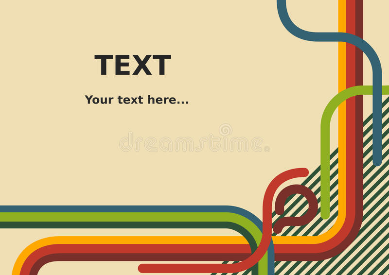 Abstract Background With Retro Lines stock illustration