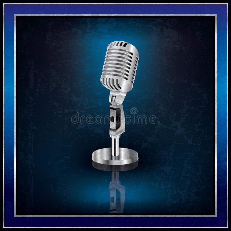 Download Abstract Background With The Retro Microphone Stock Vector - Image: 25142383