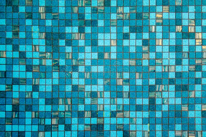 Abstract background of ripple blue surface water in swimming pool. stock photo