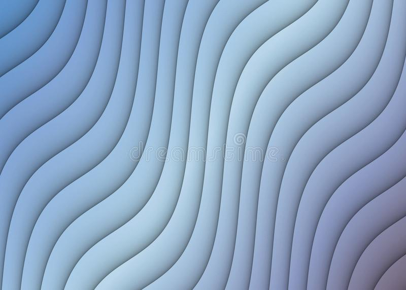 Abstract Background Ripples Curves Diagonal Cascading Design Blue Gray White. Beautiful shades of blue, gray, and white cascade diagonally down the page in a royalty free stock image