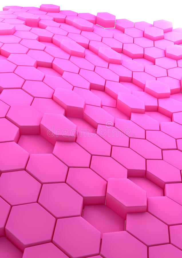 Download Abstract Background With Rose Hexagons Stock Illustration - Image: 31913634