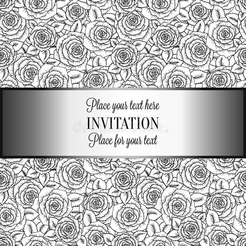 Black Silver Vintage Background Stock Illustrations 15 693 Black